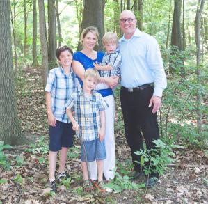 The Pappas Family 2017: Tyson, Megan w Blake, Perry Front: Ashton